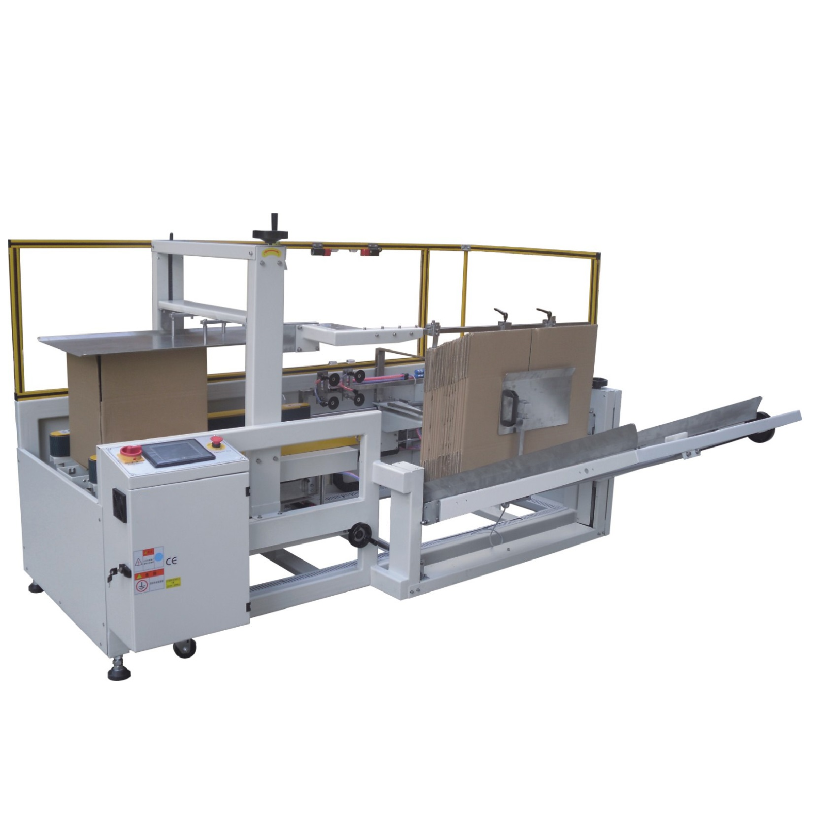 Automatic carton forming and bottom sealing machine