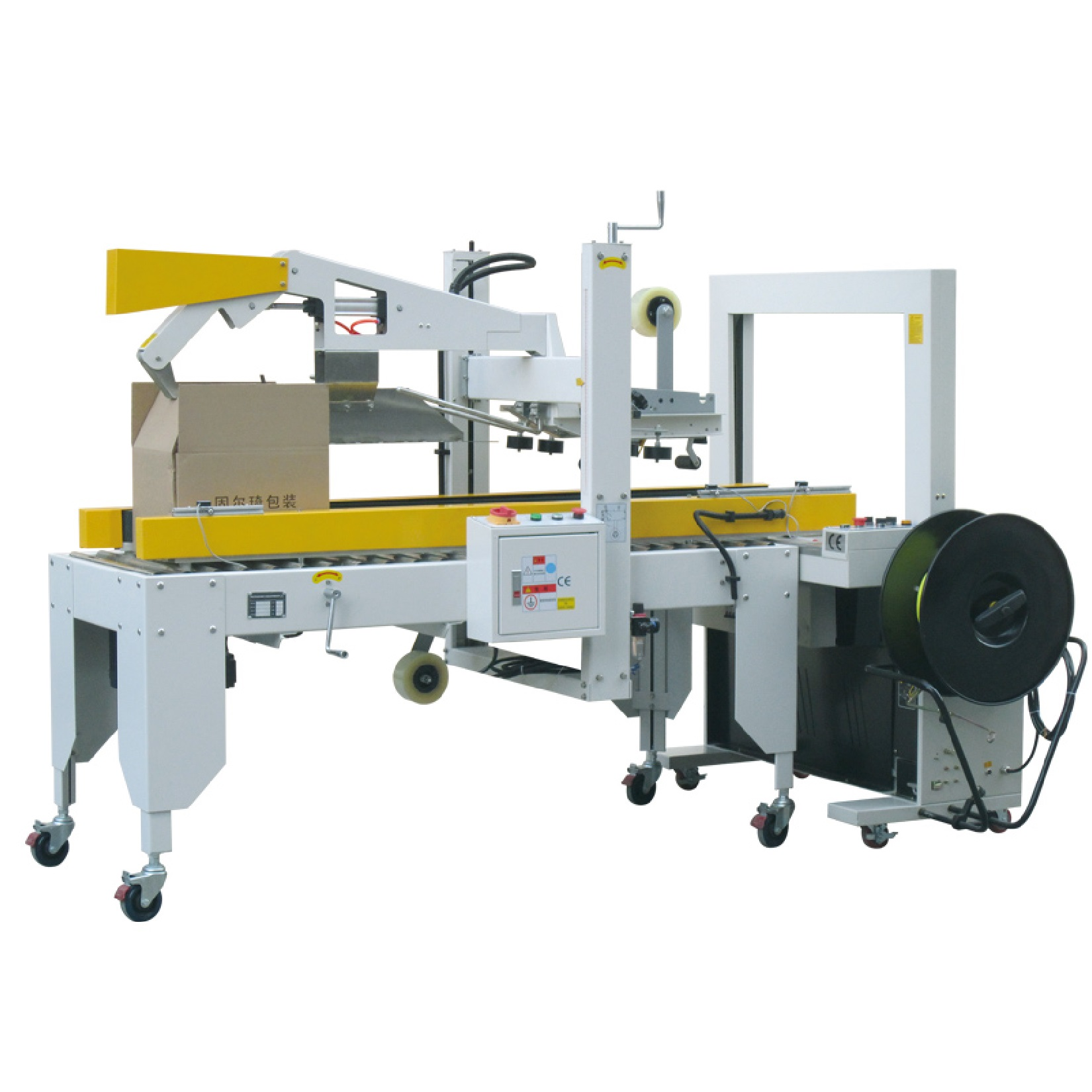 Carton sealer and strapping – OCSS-50I